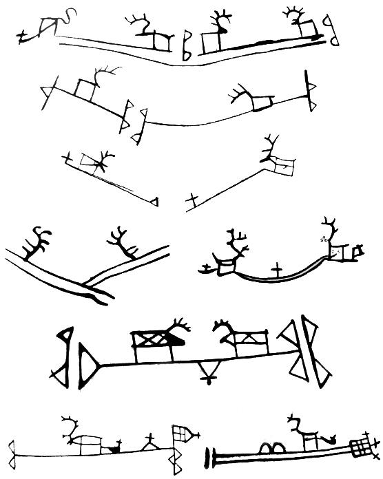 Shamans Drum Symbols In Scandinavia